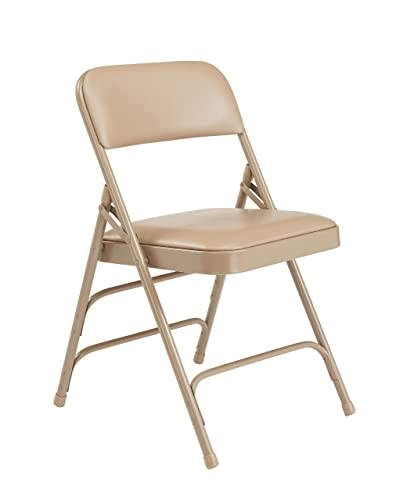 NPS 1300 Series Premium Vinyl Upholstered Triple Brace Double Hinge Folding Chair