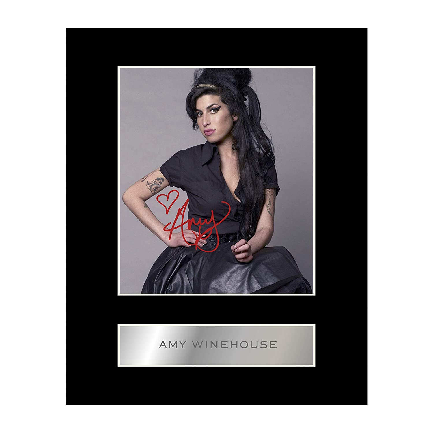 Amy Winehouse Signed Mounted Photo Display #2 Iconic pics