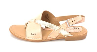 BOC Womens Lowrey Leather Split Toe Casual Slingback Sandals Pink Size 80