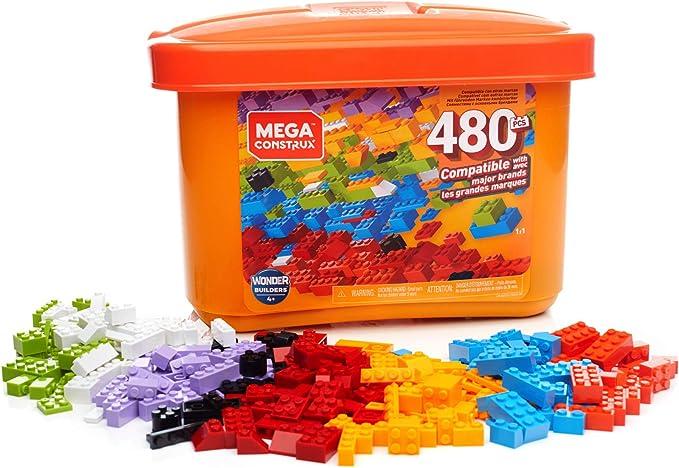 Mega Construx Caja de 480 piezas y bloques de construcción para niños +3 años (Mattel GJD23) , color/modelo surtido: Amazon.es: Juguetes y juegos
