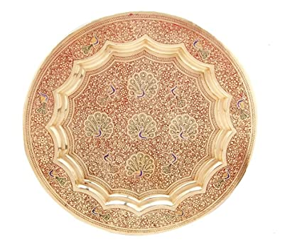 Buy Brass Decorative Wall Hanging Plate Best Iem For Peacock Design