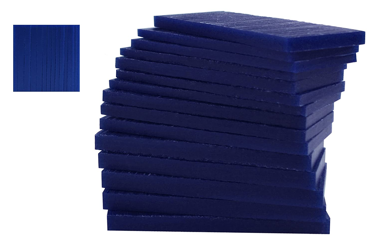 15 Piece Assortment of 1/2 Lb Blue Wax Carving Block Jewelry Pattern Making Machining Medium-Hard Melting Modeling Wax PMC Supplies WAX-331.25