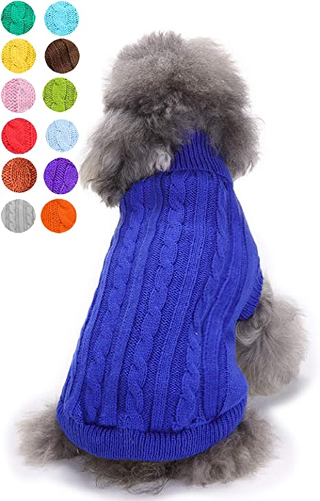Knitted dog sweater Dog sweater for small and medium dogs Warm dog sweater Personalized dog sweater