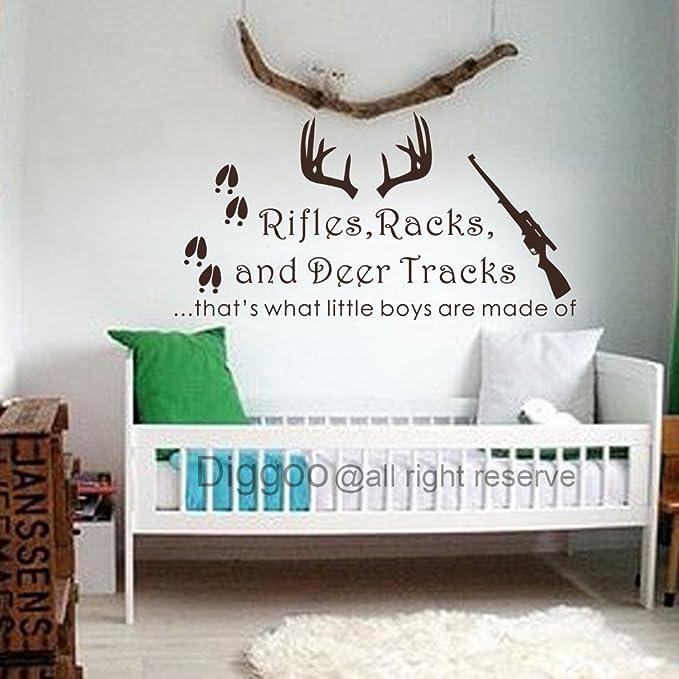 Deer Silhouette Pattern Fabric Bin Boy/'s Bedroom Baby Nursery Organizer for Toys or Clothing FB0531
