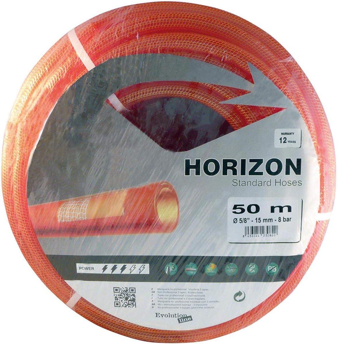 Riegolux 301406 Tuyau Horizon Tricot/é Rouge 19 x 50 m