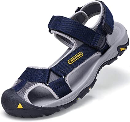 Amazon.com | CAMEL CROWN Men's Waterproof Hiking Sandals Closed Toe Water Shoes  Athletic Sport Sandals for Men Outdoor Beach | Sport Sandals & Slides