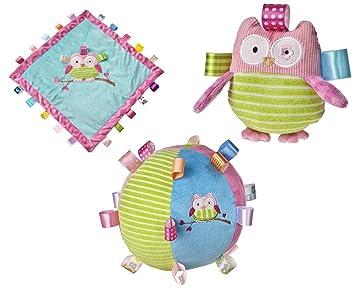 Kuschelige Kinderdecke Spieldecke Kinderzimmer Eule Owl Tiermotive Bunt In Pink