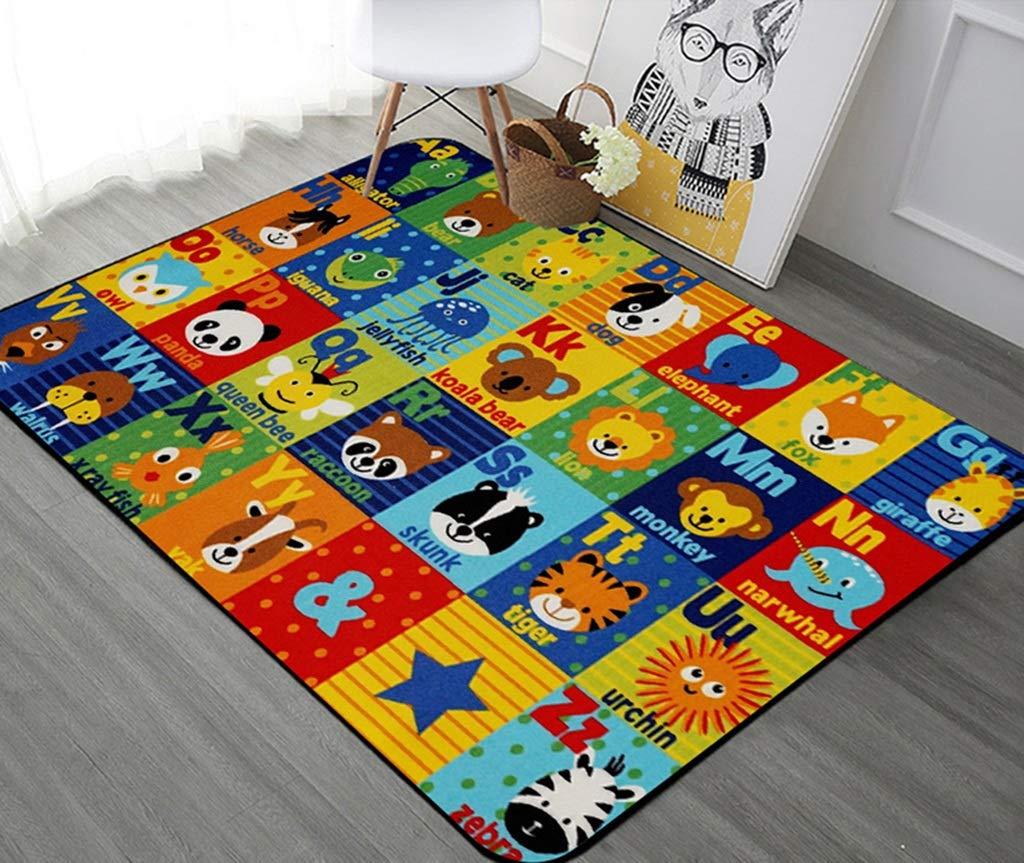 GJIF Cartoon Kinder Teppich Baby Krabbeln Mat Mat Mat Waschbar Geeignet für Wohnzimmer Schlafzimmer - 0.6cm (Farbe   Farbe 2, größe   180X280cm) 31b2f0