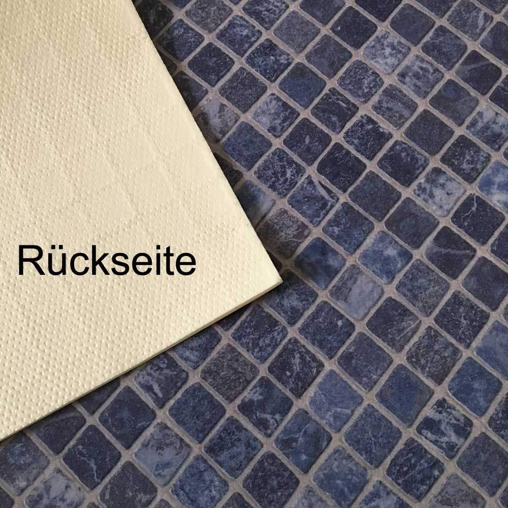 Gr/ö/ße:1.50 x 2.00 m PVC Bodenbelag Gerflor Quatro Mozaik Azur Blau 2m Mosaikdekor