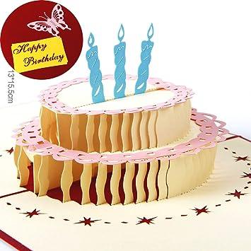 Paper Spiritz Birthday Cake Pop Up Birthday Cards For Children Women