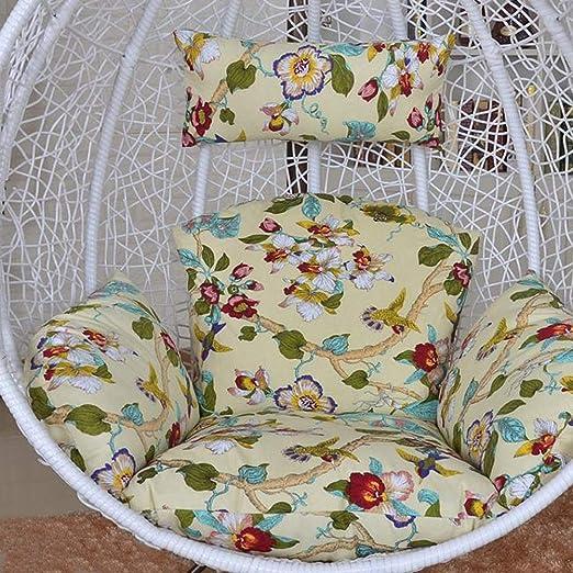 NACHEN Cojines de Columpio para Exteriores Cojín para Silla de jardín Terraza de ratán Cojín para Asiento de colchón Colgante de jardín,Color20: Amazon.es: Hogar