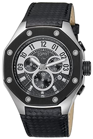 Esprit Collection para hombre-reloj cronógrafo de cuarzo crono piel EL101291F01: Amazon.es: Relojes