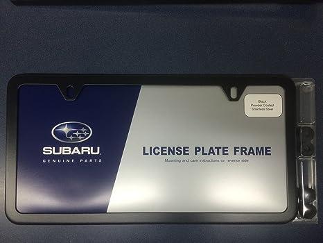 Subaru Geniune Slimline License Plate Frame Polished MATTE BLACK OEM  SOA342L105 ALL MODELS