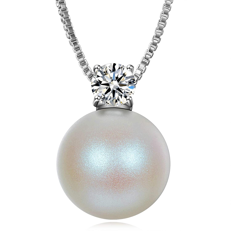 Perle de Swarovski J./RENE/É Bijou Noel Perle Pendentif Femme Cadeau Femme Bijoux Femme