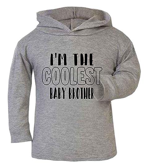 """Sudadera con capucha para bebé con texto en inglés""""Im the Coolest Baby"""