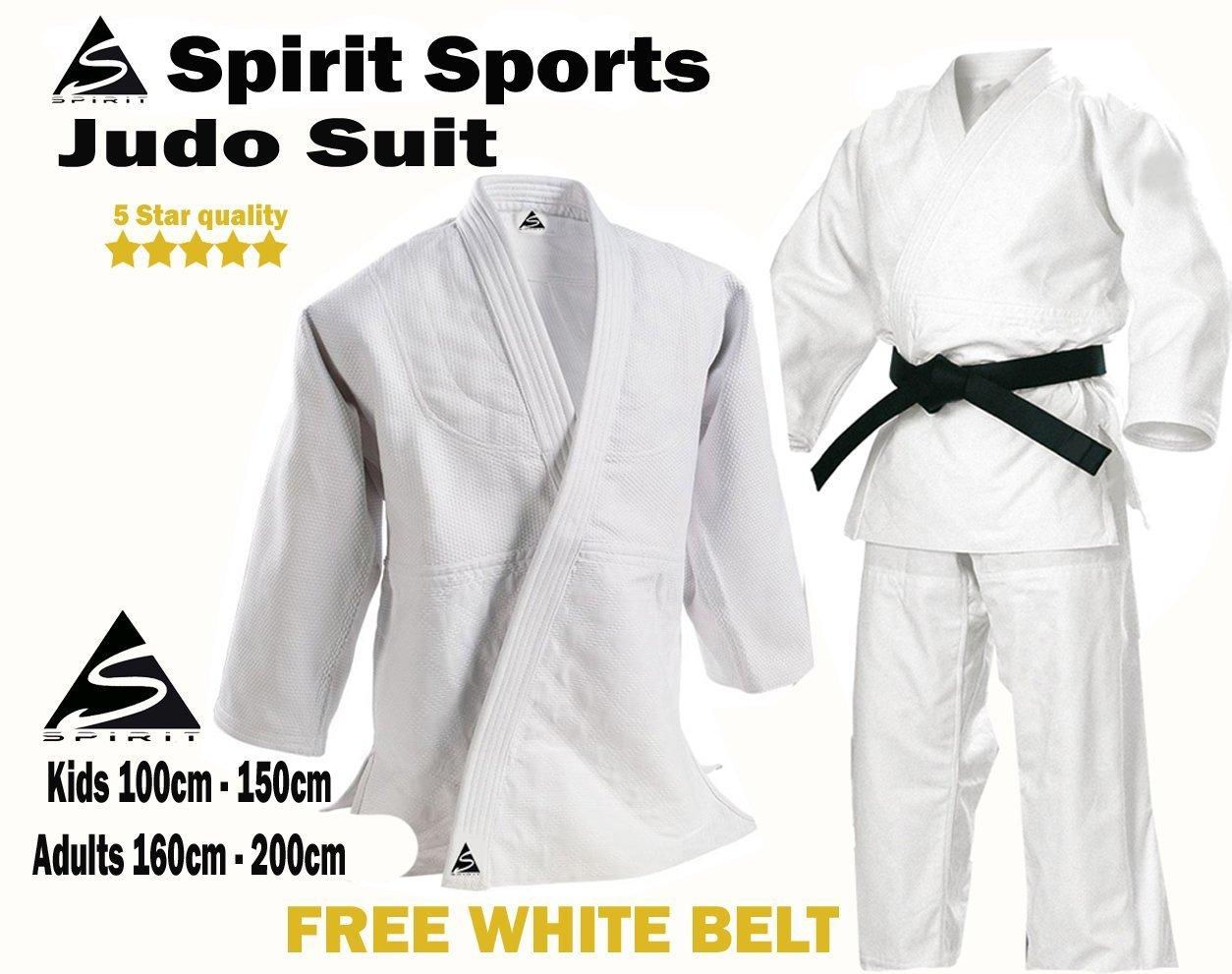 Spirit Sports Judo Entrenamiento Uniforme 550 grm 100% algodón ...