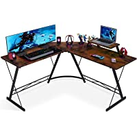 Deals on Coleshome L Shaped Home Office Desk with Shelf