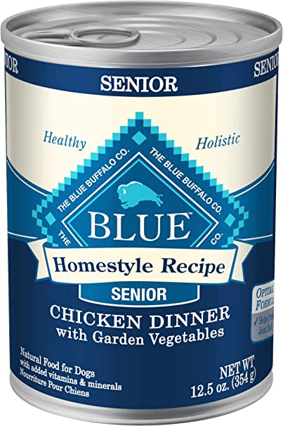 Blue Buffalo Natural Senior Wet Dog Food - Best Wet Dog Food for Firm Stools