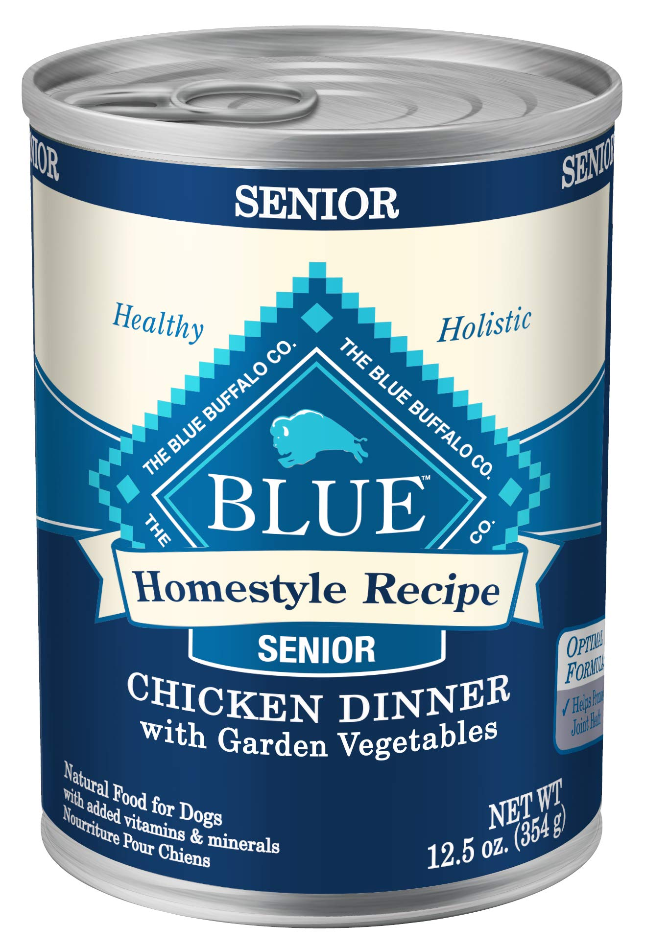 Blue Buffalo Homestyle Recipe Natural Senior Wet Dog Food, Chicken 12.5-oz can (Pack of 12) by Blue Buffalo