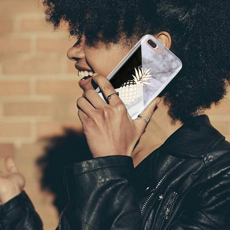 5,8 S/érie Marble, Ananas Misstars Coque iPhone X G/éom/étrique Marbre Motif Design Ultra-Mince Glitter Paillette TPU Silicone Souple Housse Etui de Protection pour Apple iPhone X//XS 10