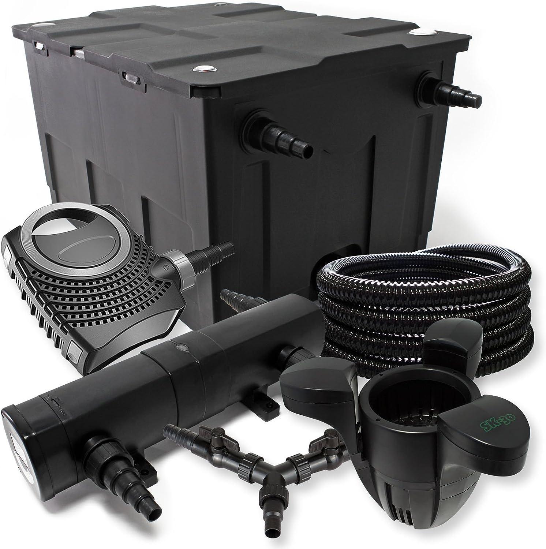 SunSun Filter Set 60000l Teich 72W Klärer,100W ECO Pumpe Schlauch Skimmer SK30