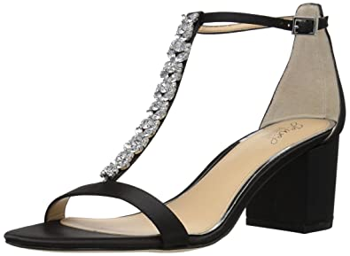 373764d0e5fbf Badgley Mischka Jewel Women s Lindsey Heeled Sandal Black 5.5 Medium US