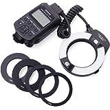 Yongnuo YN-14EX Macro Ring TTL Flash Light Luz + Adaptador for Canon DSLR 6D 7D LF464
