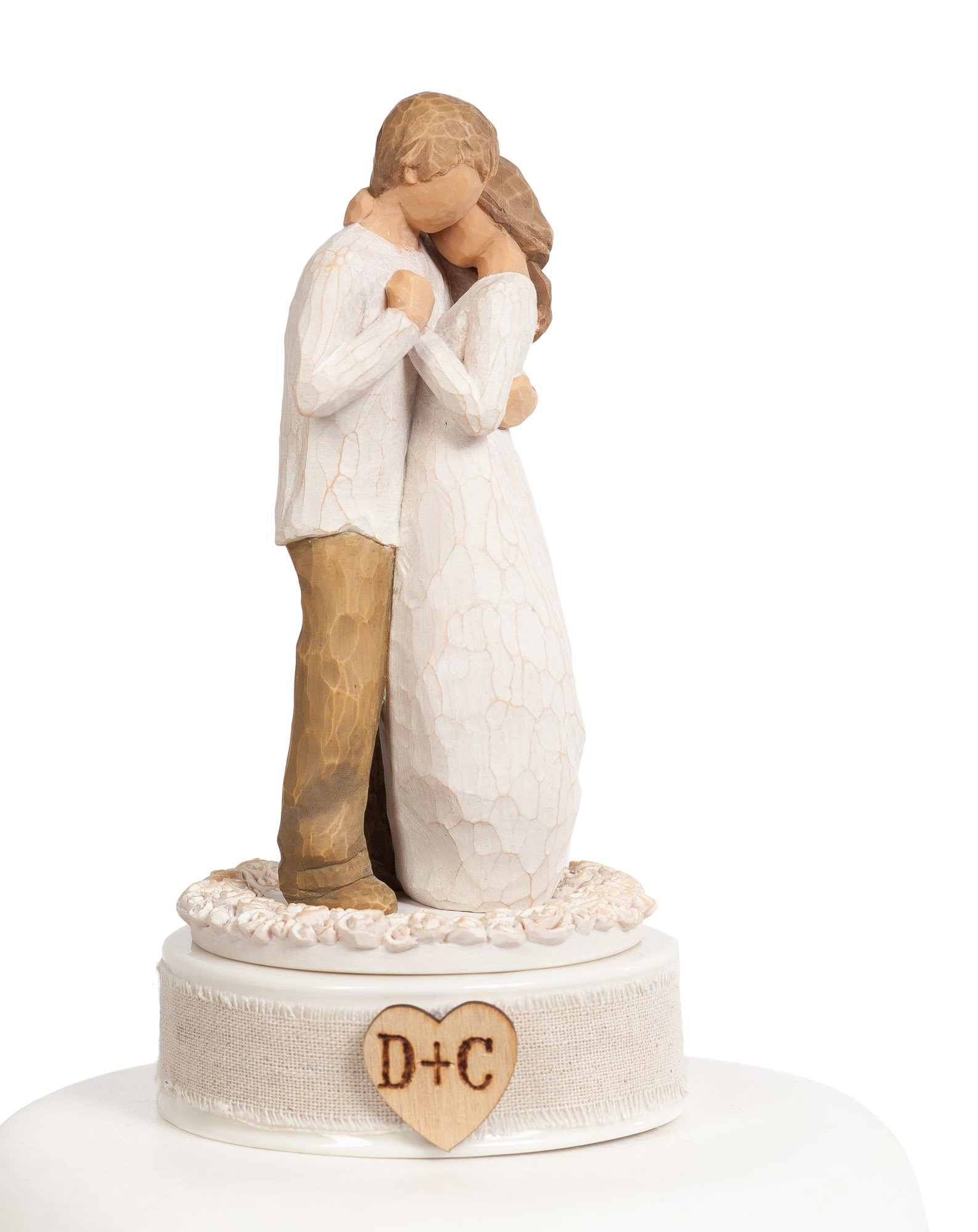 Willow Tree Wedding Cake Toppers by Wedding Collectibles (Personalized Willow Tree''Promise'' Wedding Cake Topper)