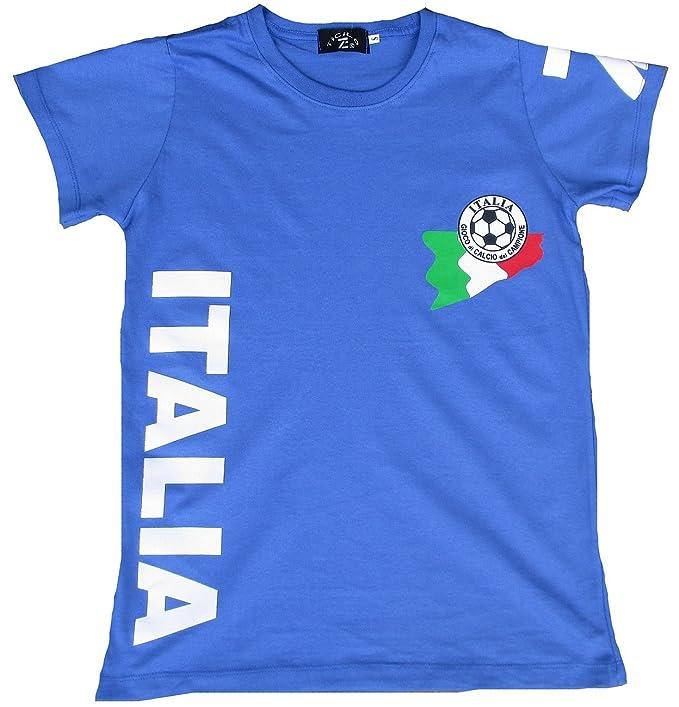 TICILA Camiseta de mujer azul Miss Italia Italia Forza Squadra Azzurra Azzurri Fútbol WM EM Camiseta
