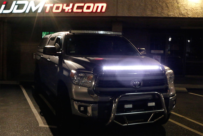 Amazon.com: iJDMTOY Xenon White 63-SMD Flexible LED Hood Bulge Strip For  2014-up Toyota Tundra: Automotive