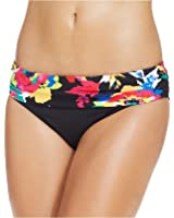 Anne Cole Banded Floral-Print Bikini Bottom Women's Swimsuit XS