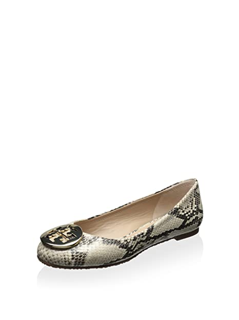81aaddef5 good tory burch reva python embossed print ballet flat natural gold 8 14032  7aa19
