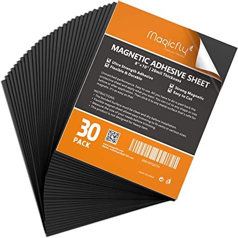 8 x 10 Inch Magnets for Crafts and Pictures Cut to Any Size Pack of 10 Flexible Magnet with Adhesive Backing JH Best Crafts Adhesive Magnetic Sheets