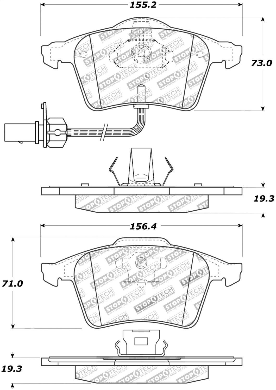 StopTech 308.09151 Street Brake Pads 5 Pack