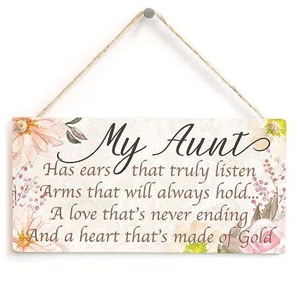 My Aunt tiene orejas que realmente escuchan brazos que siempre se sostienen. Una amor que