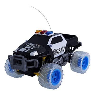 Lutema Police Pickup 4CH Remote Control Truck, Black & White, One Size: Toys & Games