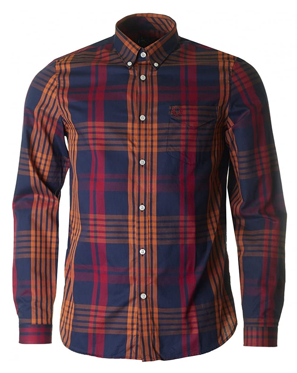 Fred Perry Twill Check Shirt M2564 D60-L: Amazon.es: Ropa y accesorios