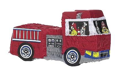 Amscan - Piñata en forma de camión de los bomberos. Pasa ...