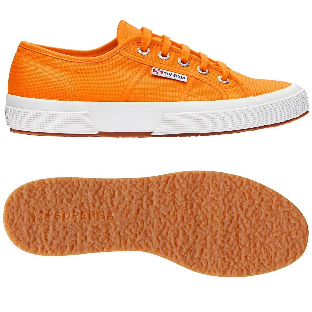 Superga Unisex-Erwachsene 2750 Navy Classic Sneaker, Navy 2750 Bright Orange 5cf335