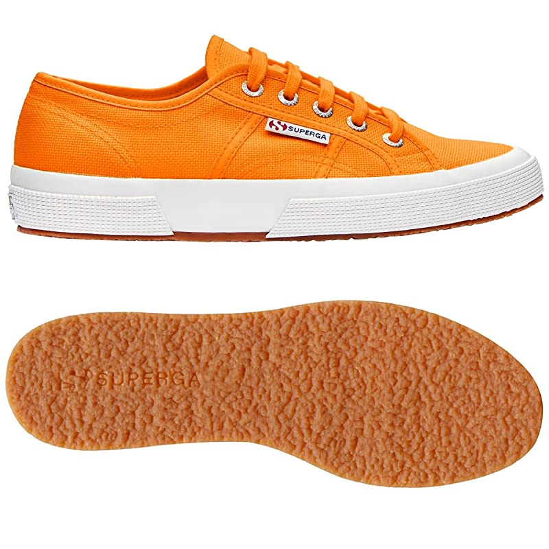 Superga 2750 Cotu Classic Sneakers Low-Top Unisex Damen Herren Orange (Bright Orange)