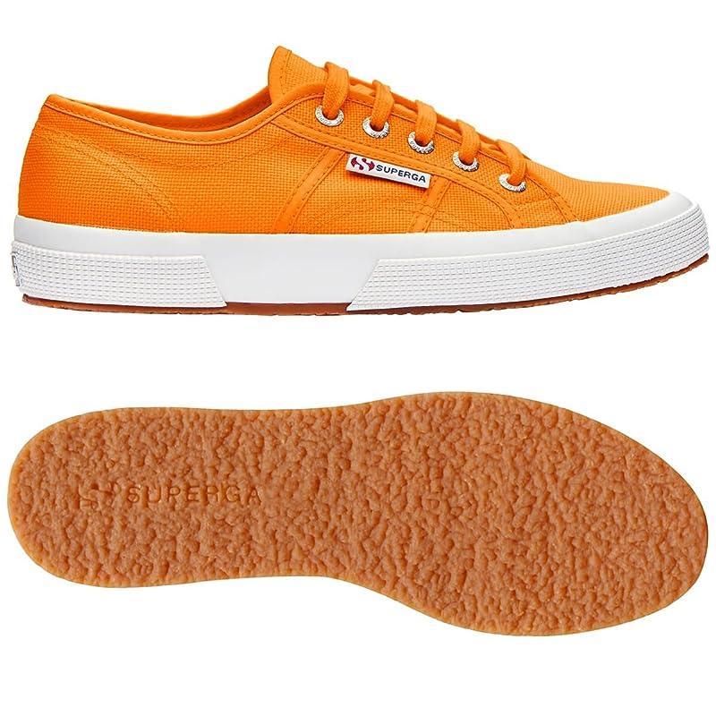 Superga 2750 Cotu Classic Sneakers Low-Top Unisex Damen Herren Orange (Bright Orange)