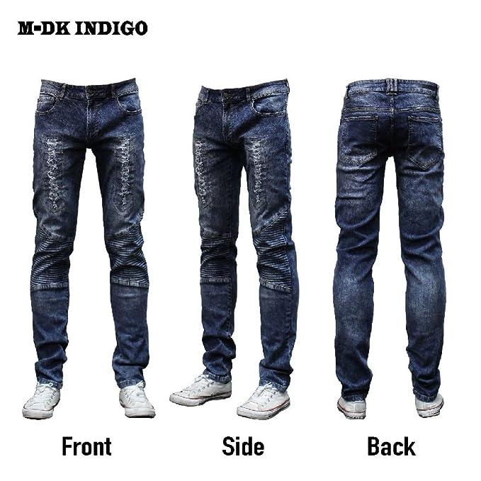 Amazon.com: Moda ovedcray ropa hombres jeans Slim Skinny ...