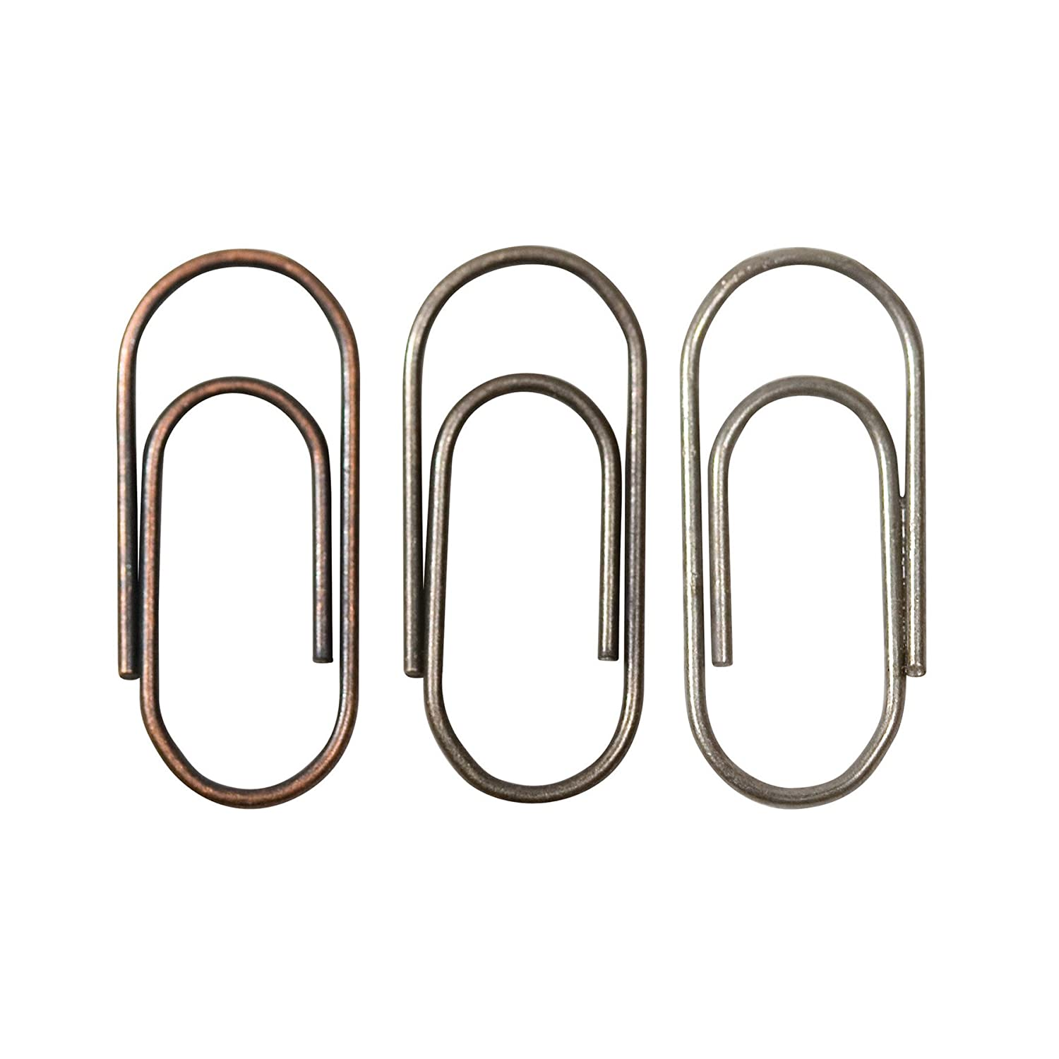 Advantus Metal Mini Paper Clips by Tim Holtz Idea-ology, 48 Per Pack, 5/8-Inch, Antique Finishes, TH92791 Notions - In Network