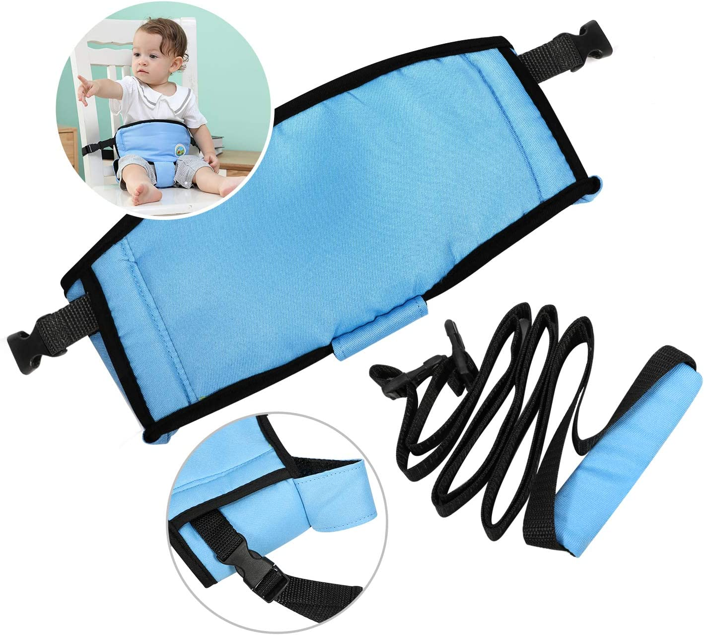 Travel High Chair Belt for Infant Toddler with Adjustable Straps HIFOT Baby Chair Belt Easy Seat Portable High Chair Safety Harness