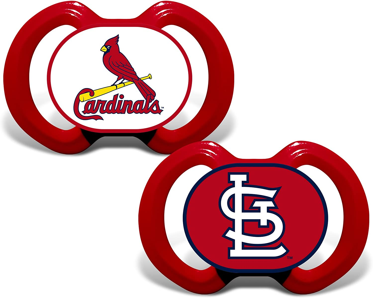 Baby Fanatic MLB St. Louis Cardinals Unisex Pacifiers2 Pack, Team Colors, One Size
