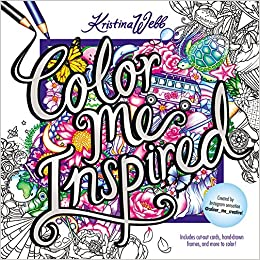 Color me inspired kristina webb 9780062480323 amazon Colouring books for adults waterstones