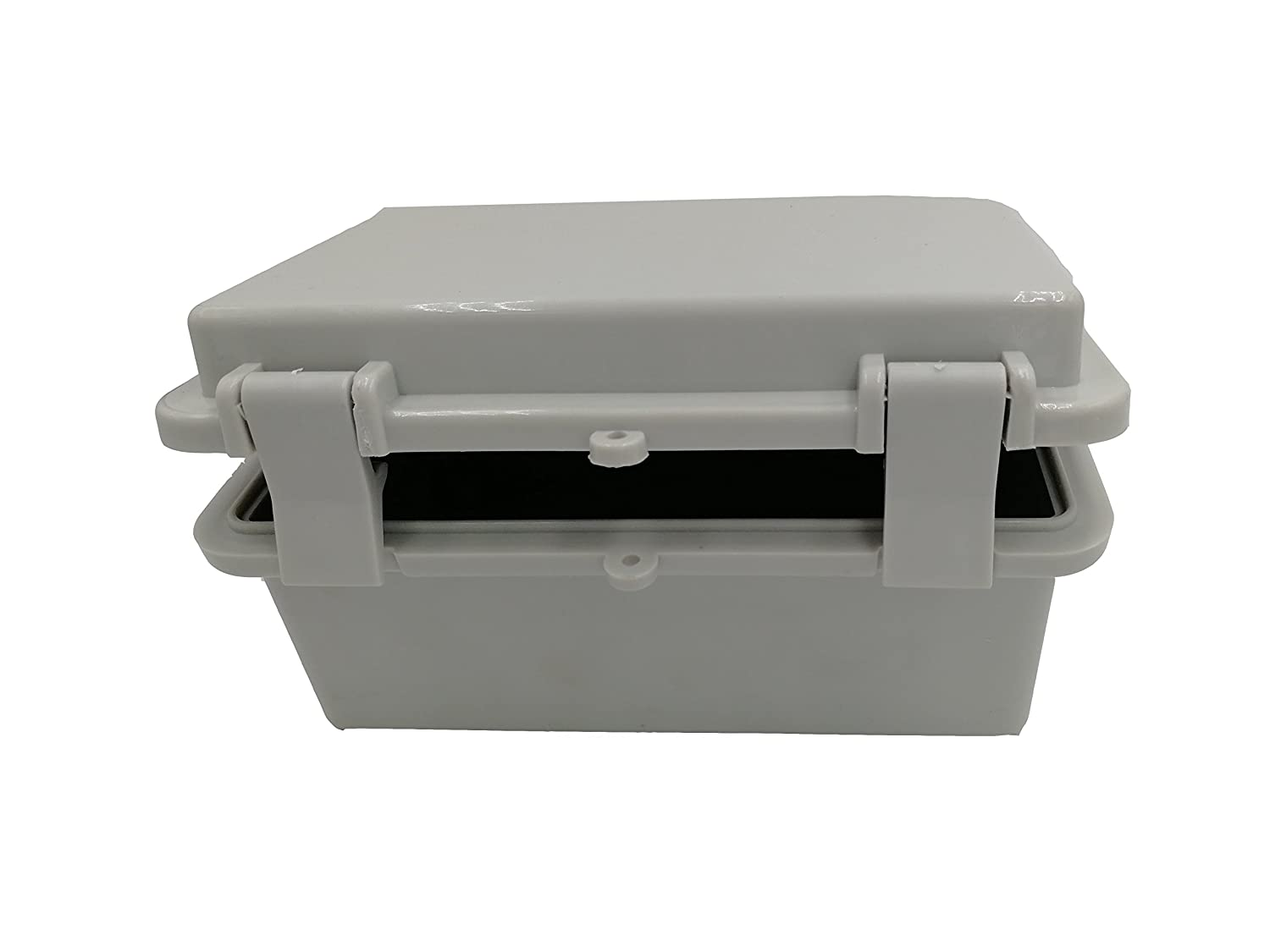 Awclub Waterproof Dustproof IP65 ABS Plastic Electric Junction Box Hinged Shell Outdoor Universal Durable Project Enclosure Gray With Lock 5.9x4x2.75 150mmx100mmx70mm