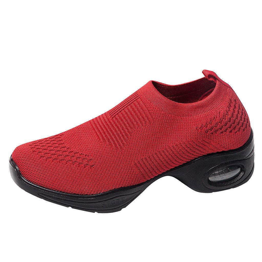 BaZhaHei Moda Scarpe a Dondolo Sneakers Donna Platform,Respirabile Scarpe Zeppe Sportivo Donne Mesh Scarpe da Corsa Casual Scarpe da Lavoro Running Fitness Shoes con Sportive Allaperto 35-41