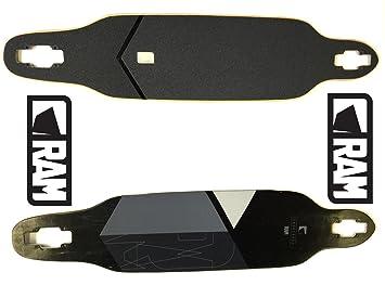 Memoria – Tabla de longboard Soli Militar 2.0 de repuesto Deck con Grip Tape y emblema