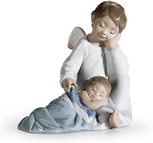 LLADR My Guardian Angel Blue Figurine. Porcelain Guardian Angel Figure.